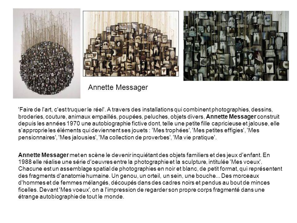 'Faire de l'art, c'est truquer le réel'. A travers des installations qui combinent photographies, dessins, broderies, couture, animaux empaillés, poup