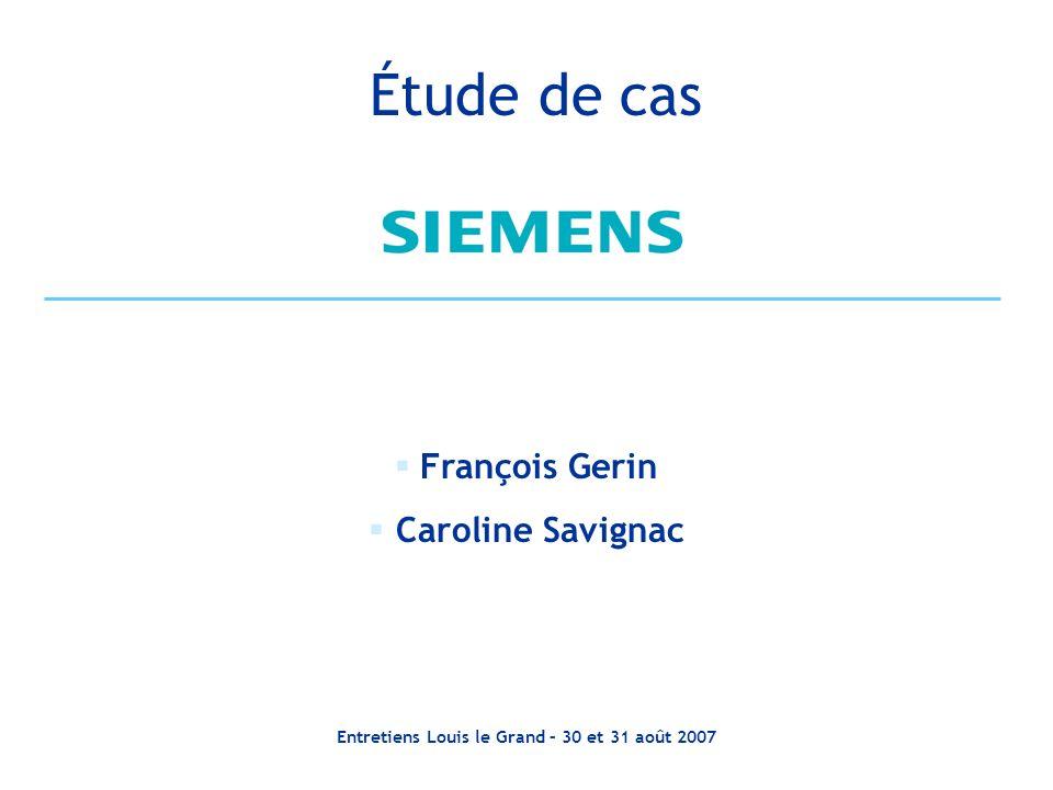 Entretiens Louis le Grand – 30 et 31 août 2007 Financement dun projet de R&D NeoVal