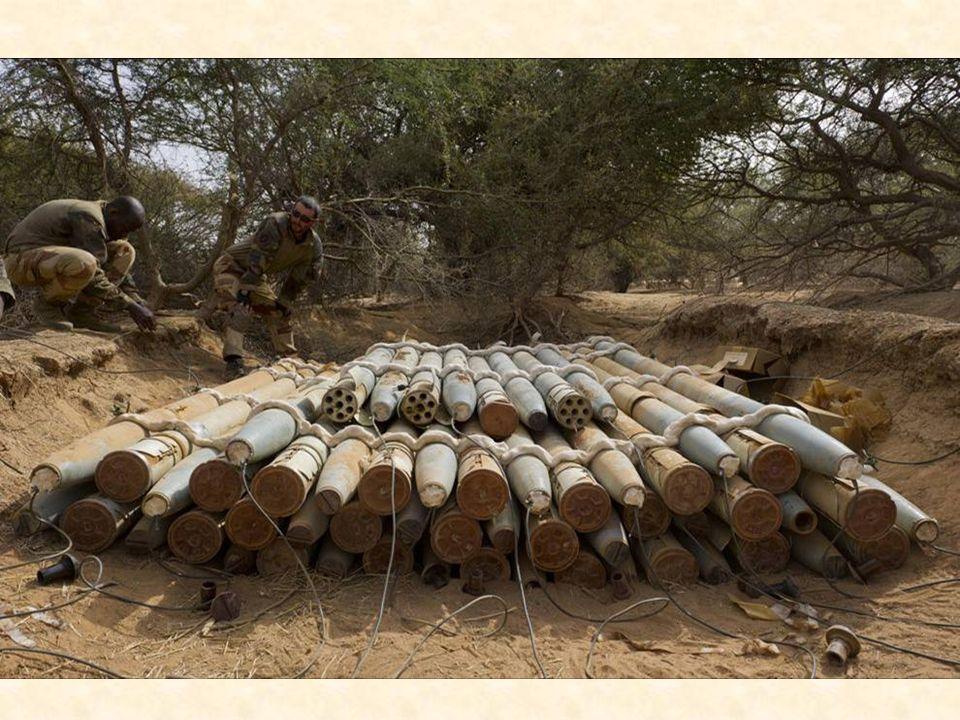 Selon l'état-major, près d'une quinzaine d'ateliers et de caches d'armes ont été découverts depuis le début de l'opération Panthère 4, qui a permis de