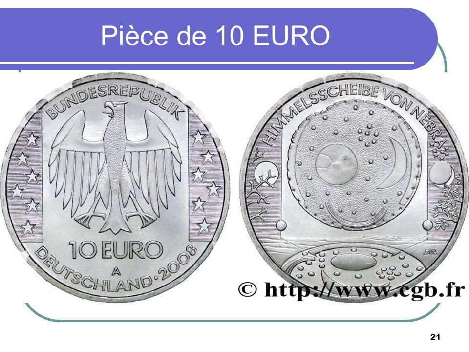 21 Pièce de 10 EURO
