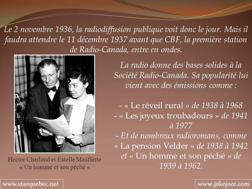 Le 2 novembre 1936, la radiodiffusion publique voit donc le jour.