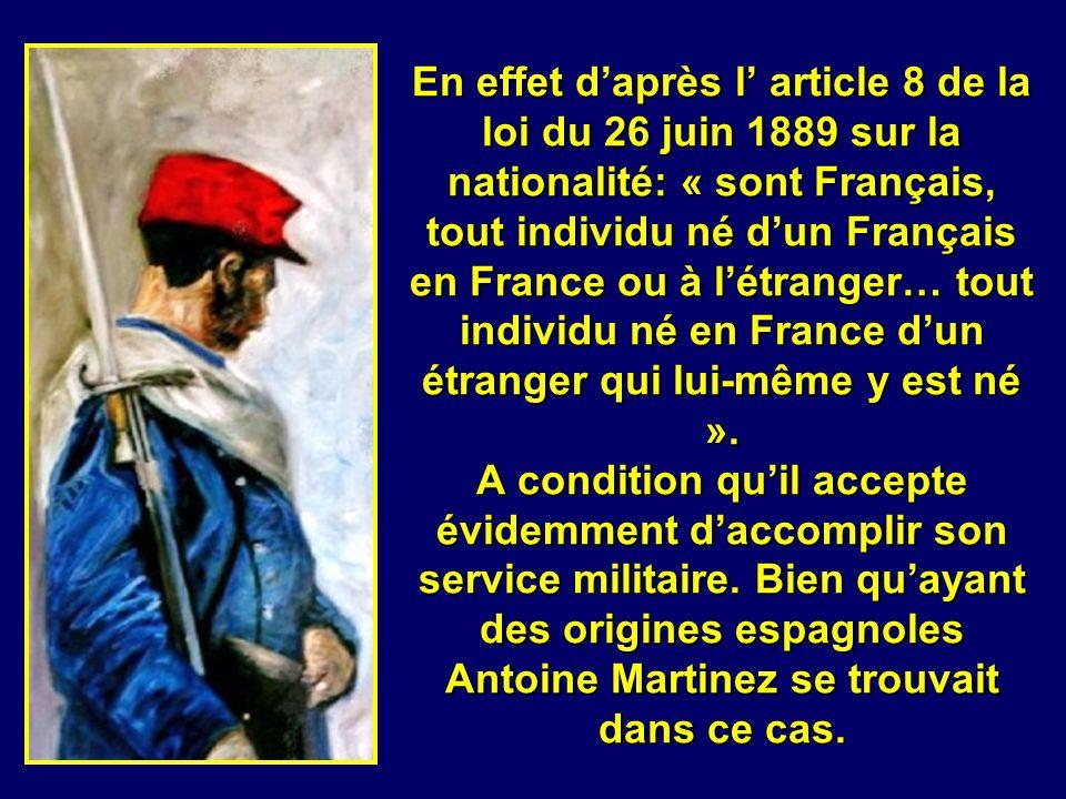 En 1913 il est appelé sous les drapeaux pour accomplir son service militaire comme tous les jeunes Français de lhexagone. Les trois départements d Alg