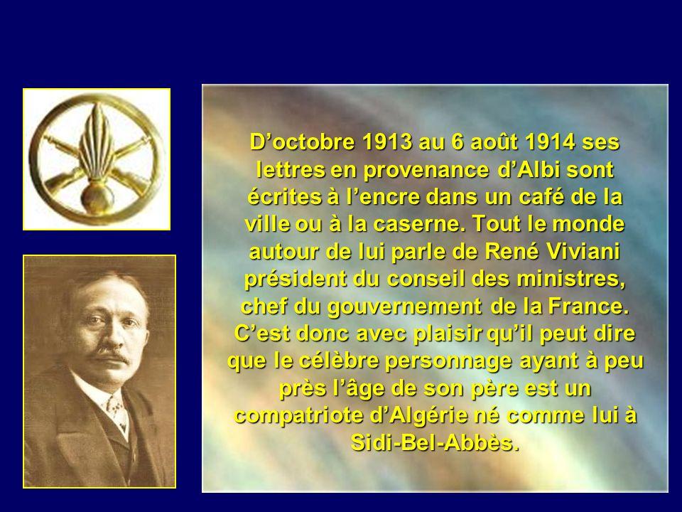 Dans une lettre du 29 mai 1914 il pleure la mort de son frère Emile et se désole de ne pouvoir rejoindre sa famille. Il évoque également des manœuvres