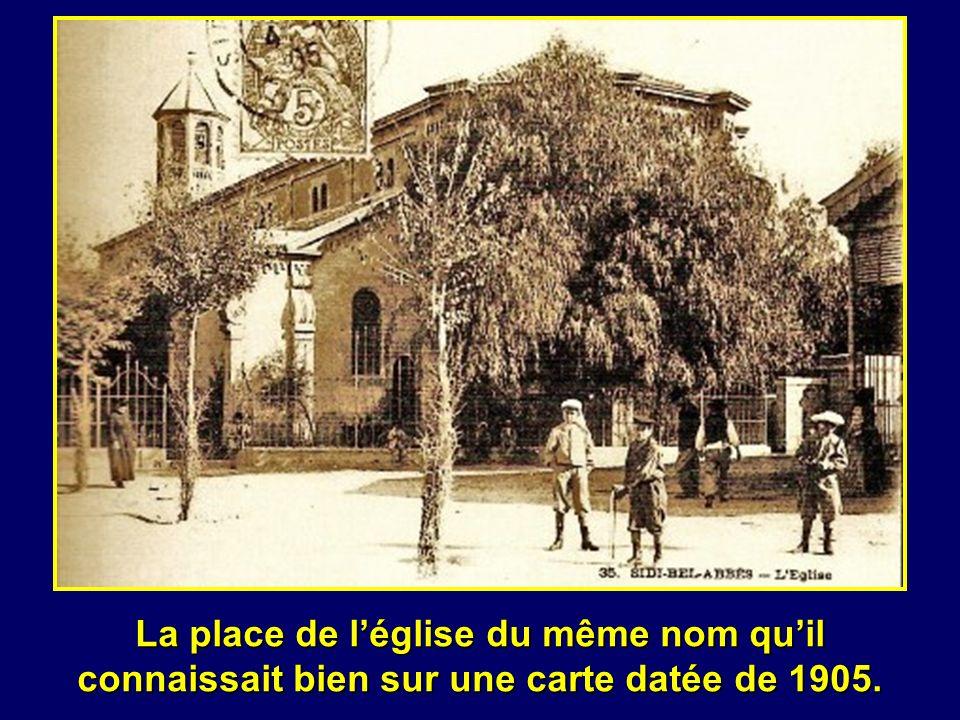 La place de léglise du même nom quil connaissait bien sur une carte datée de 1905.