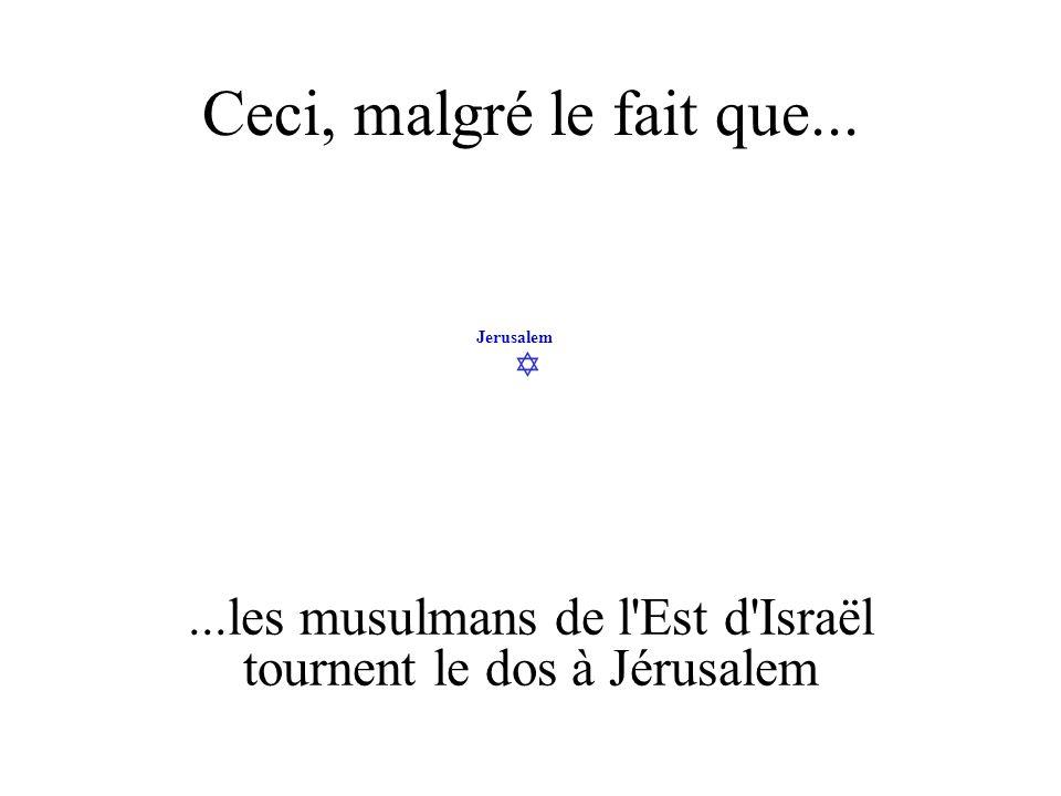 Jerusalem Ceci, malgré le fait que......les musulmans de l'Est d'Israël tournent le dos à Jérusalem