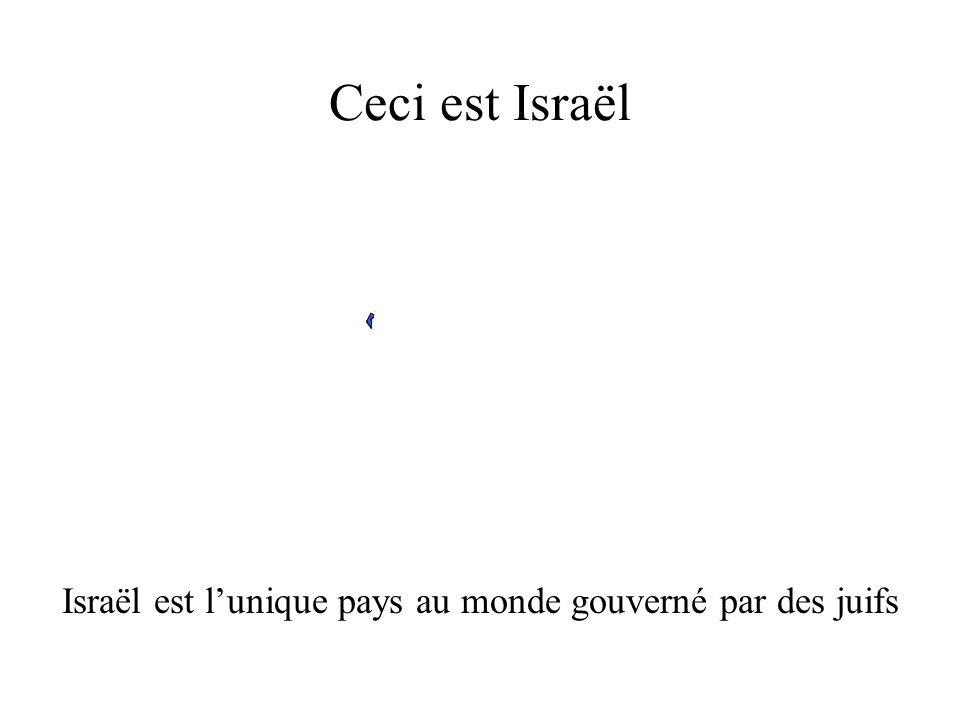 Ceci est Israël Israël est lunique pays au monde gouverné par des juifs