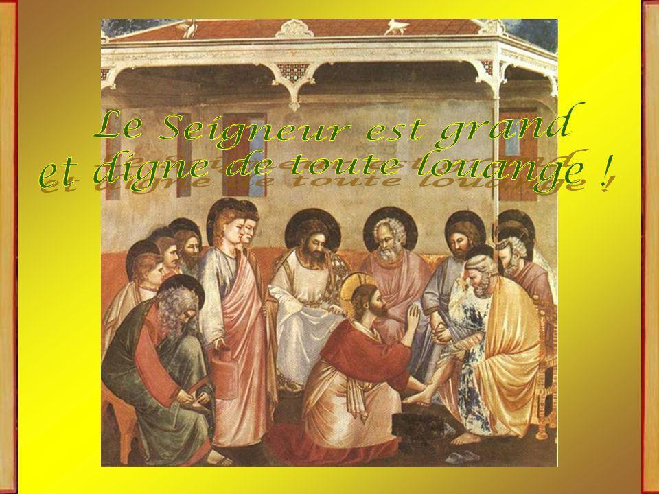 Mandatum novum do vobis: Je vous donne un commandement nouveau, qui est que vous vous aimiez les uns les autres, comme je vous ai aimés, dit le Seigneur.