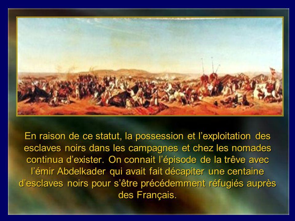 Lors de la prise dAlger, il restait encore 130 esclaves européens détenus par le Dey qui furent immédiatement libérés.