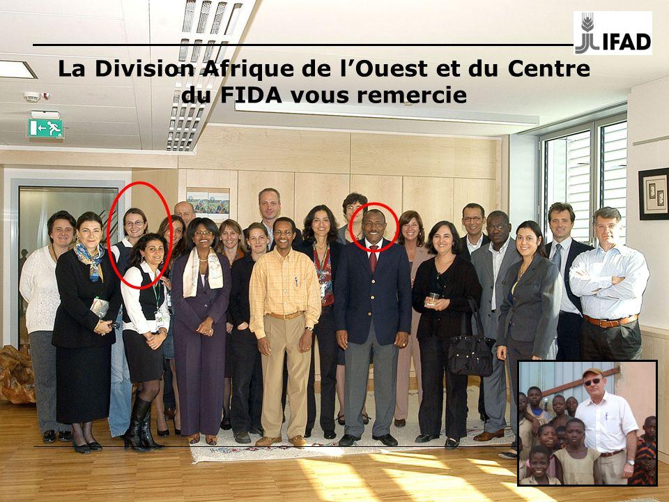 129 La Division Afrique de lOuest et du Centre du FIDA vous remercie