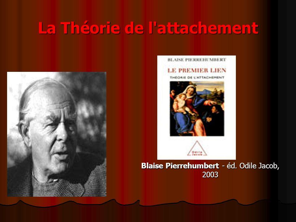 La Théorie de l attachement Blaise Pierrehumbert - éd. Odile Jacob, 2003