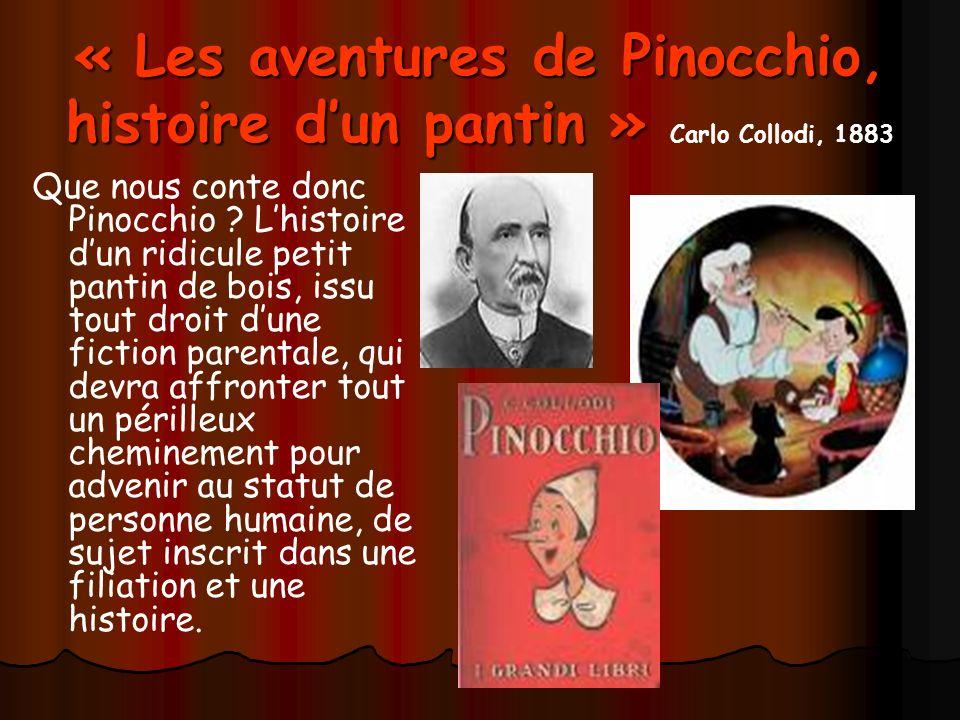 « Les aventures de Pinocchio, histoire dun pantin » « Les aventures de Pinocchio, histoire dun pantin » Carlo Collodi, 1883 Que nous conte donc Pinocchio .