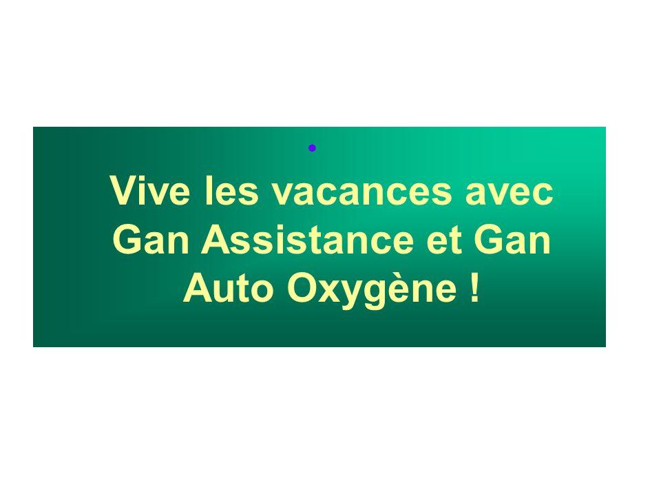 Vive les vacances avec Gan Assistance et Gan Auto Oxygène !