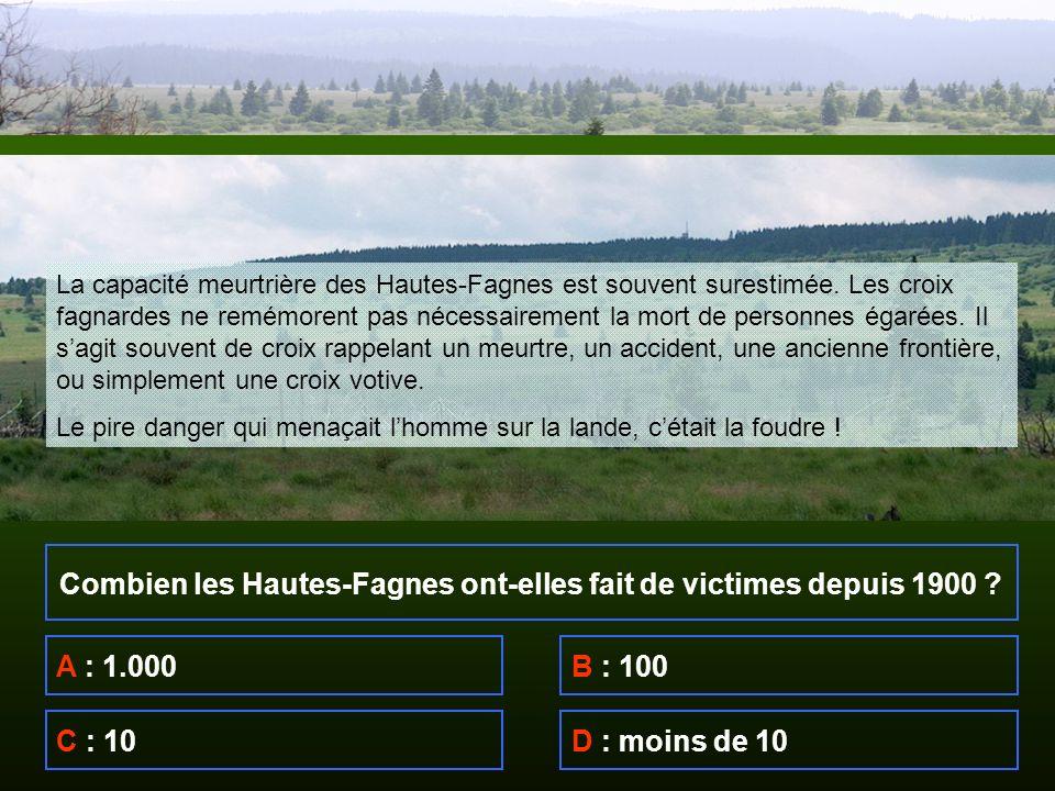 Combien les Hautes-Fagnes ont-elles fait de victimes depuis 1900 .