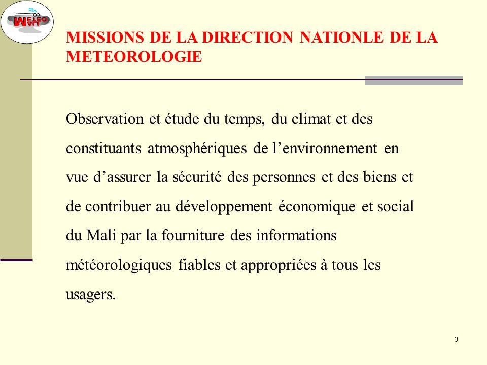 2 DIRECTEUR CLIMATOLOGIE AGRO METEOROLOGIE OBSERVATION ET MOYENS TECH EXPLOITATION DE LA METEO RECHERCHE ET DEVELLOPEMENT REPRESENTATION ASECNA COLLEC