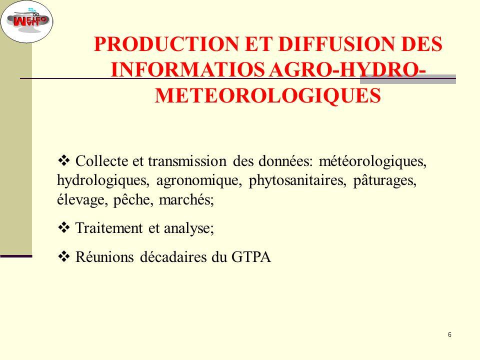 5 STRATEGIE La définition par les groupes dutilisateurs des besoins en informations, données et produits météorologiques ; Lexécution des aspects tech