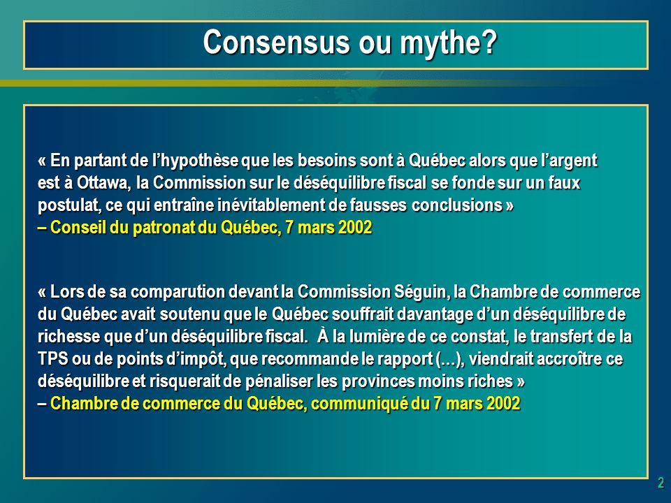 2 Consensus ou mythe.