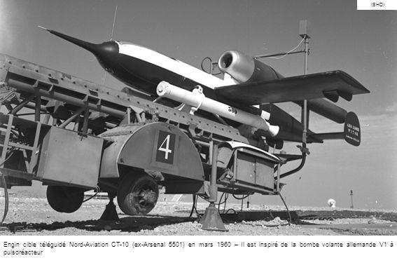 (SHD) Engin cible téléguidé Nord-Aviation CT-10 (ex-Arsenal 5501) en mars 1960 – Il est inspiré de la bombe volante allemande V1 à pulsoréacteur