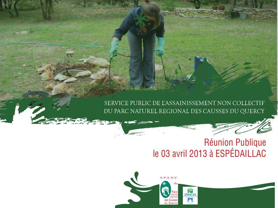 Présentation dune opération de réhabilitation groupée Réunion publique Espédaillac – 3 avril 2013 Zone dassainissement initialement prévue en collectif