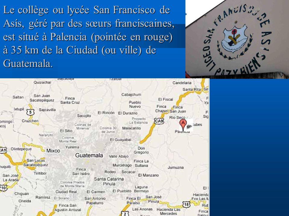 Le collège ou lycée San Francisco de Asís, géré par des sœurs franciscaines, est situé à Palencia (pointée en rouge) à 35 km de la Ciudad (ou ville) d