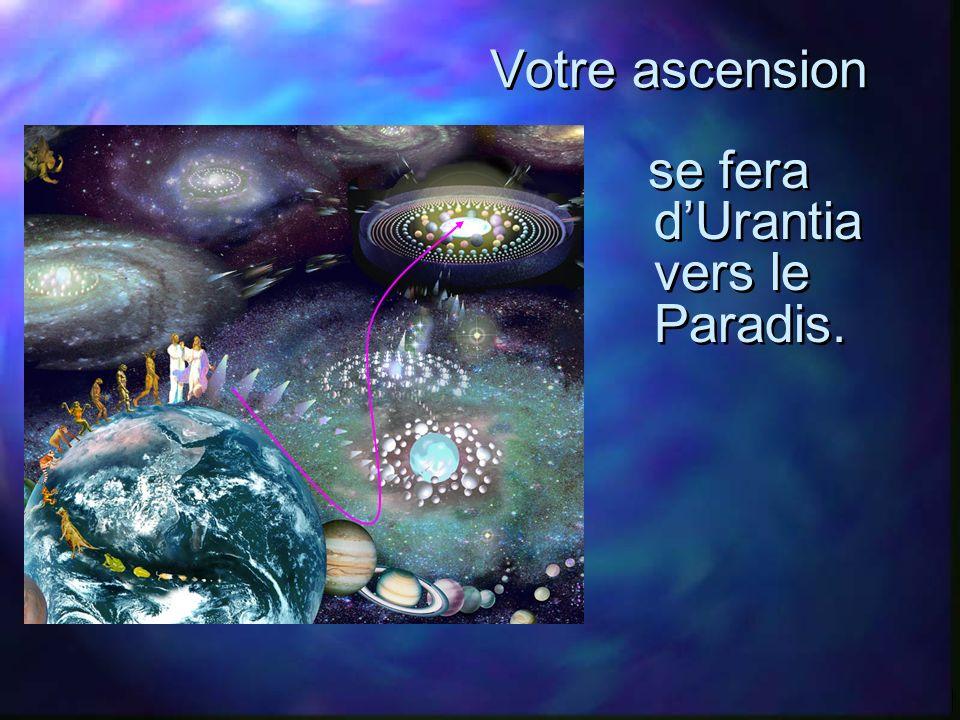 Votre ascension se fera dUrantia vers le Paradis.