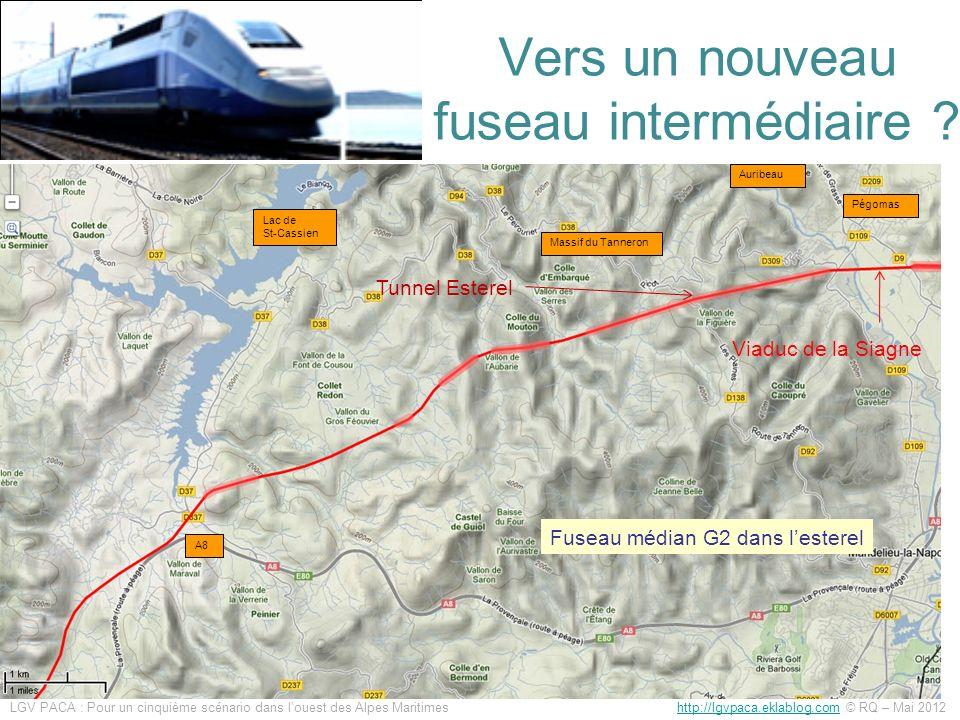Vers un nouveau fuseau intermédiaire ? Viaduc de la Siagne Tunnel Esterel Fuseau médian G2 dans lesterel Pégomas Auribeau Massif du Tanneron A8 Lac de