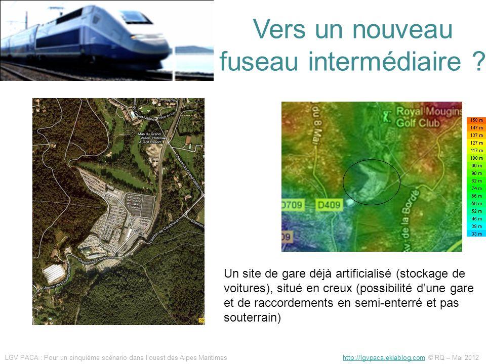 Un site de gare déjà artificialisé (stockage de voitures), situé en creux (possibilité dune gare et de raccordements en semi-enterré et pas souterrain