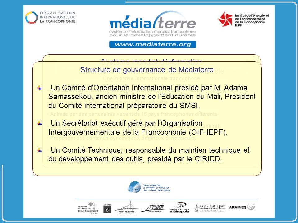 Système mondial dinformation francophone pour le développement durable Une initiative internationale francophone Née au Sommet Mondial sur le Développement Durable de Johannesburg.