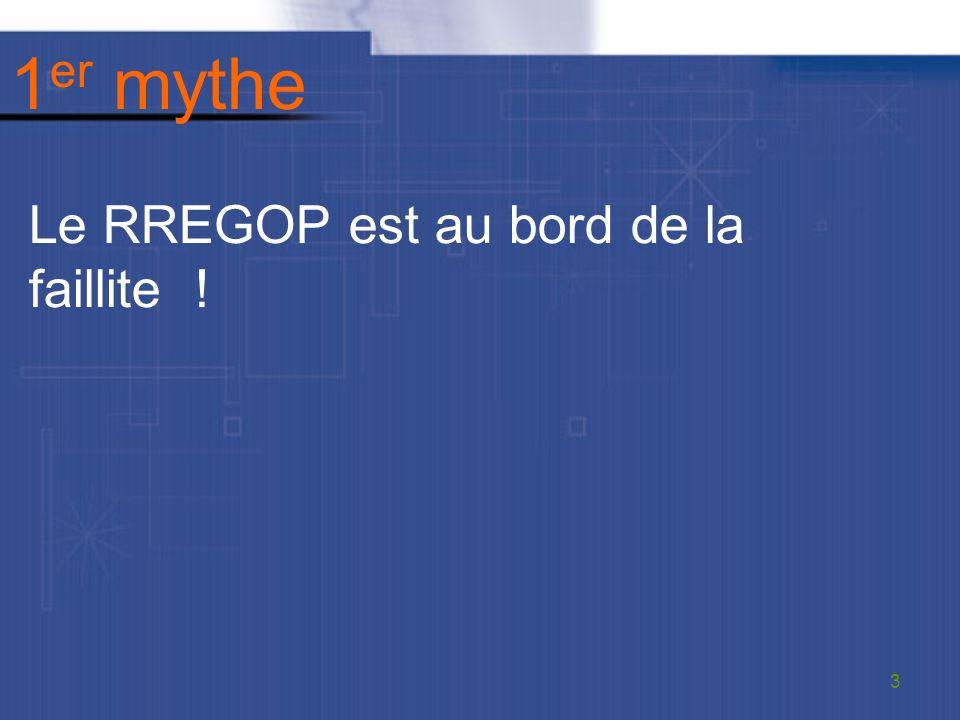 1 er mythe Le RREGOP est au bord de la faillite ! 3
