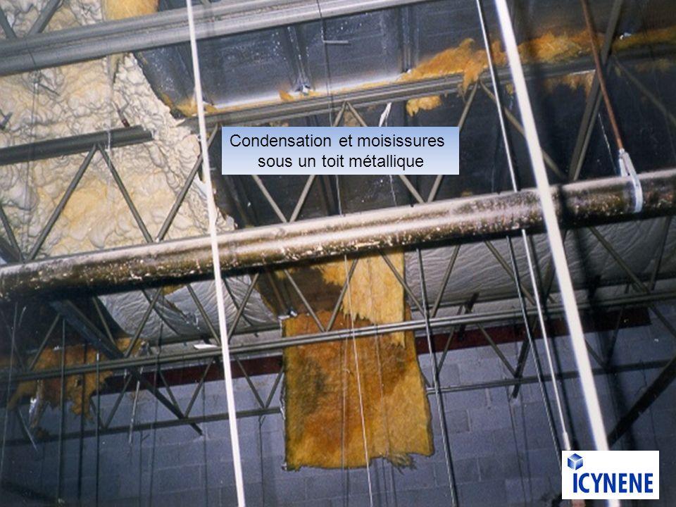 Condensation et moisissures sous un toit métallique