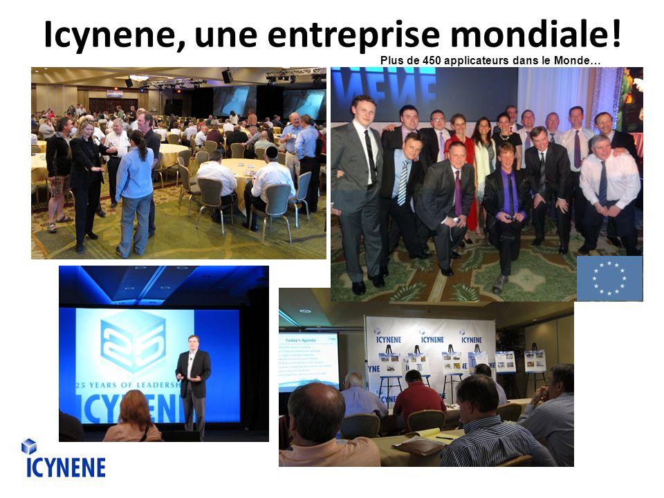 Icynene, une entreprise mondiale! Plus de 450 applicateurs dans le Monde…