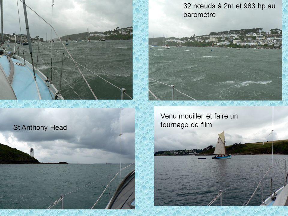 St Anthony Head Venu mouiller et faire un tournage de film 32 nœuds à 2m et 983 hp au baromètre