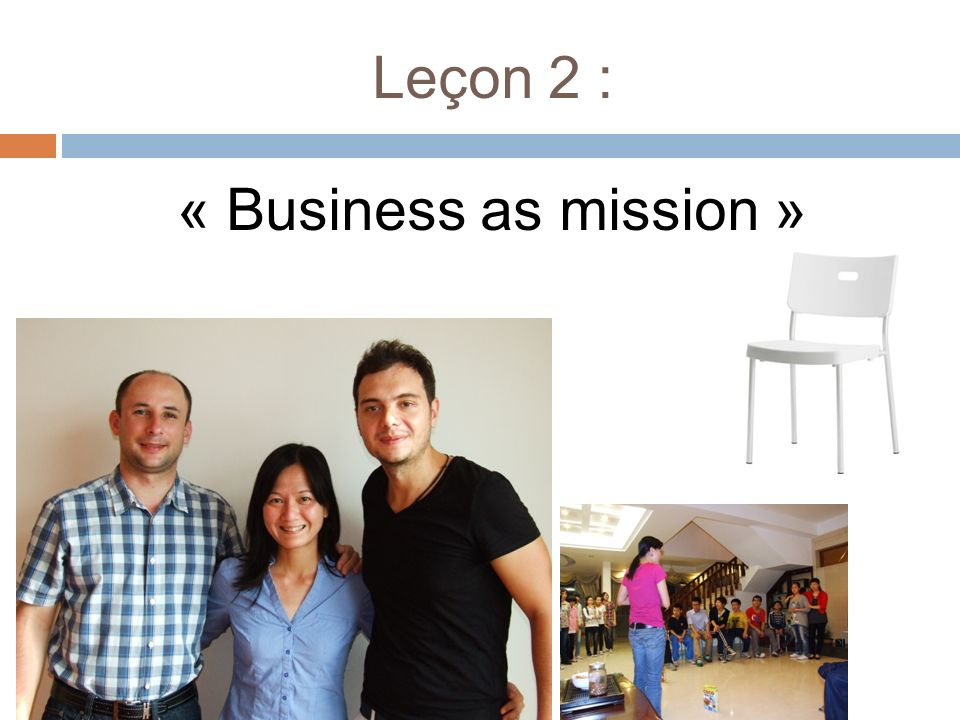 Leçon 2 : « Business as mission »