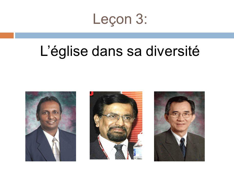 Leçon 3: Léglise dans sa diversité