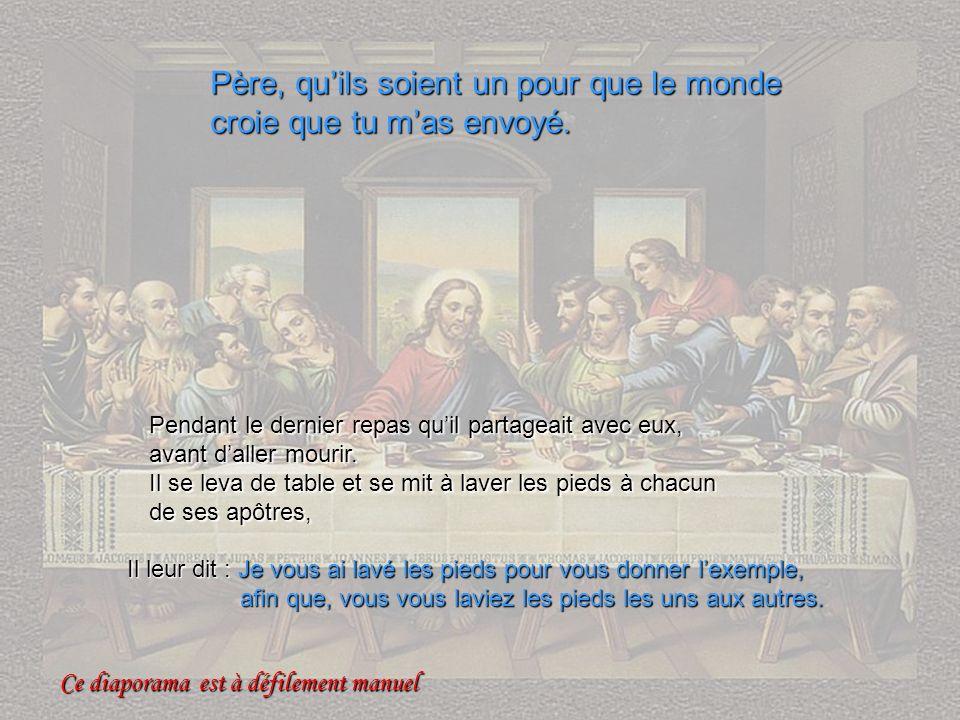 Eucharistie Pendant le dernier repas quil partageait avec eux, avant daller mourir.