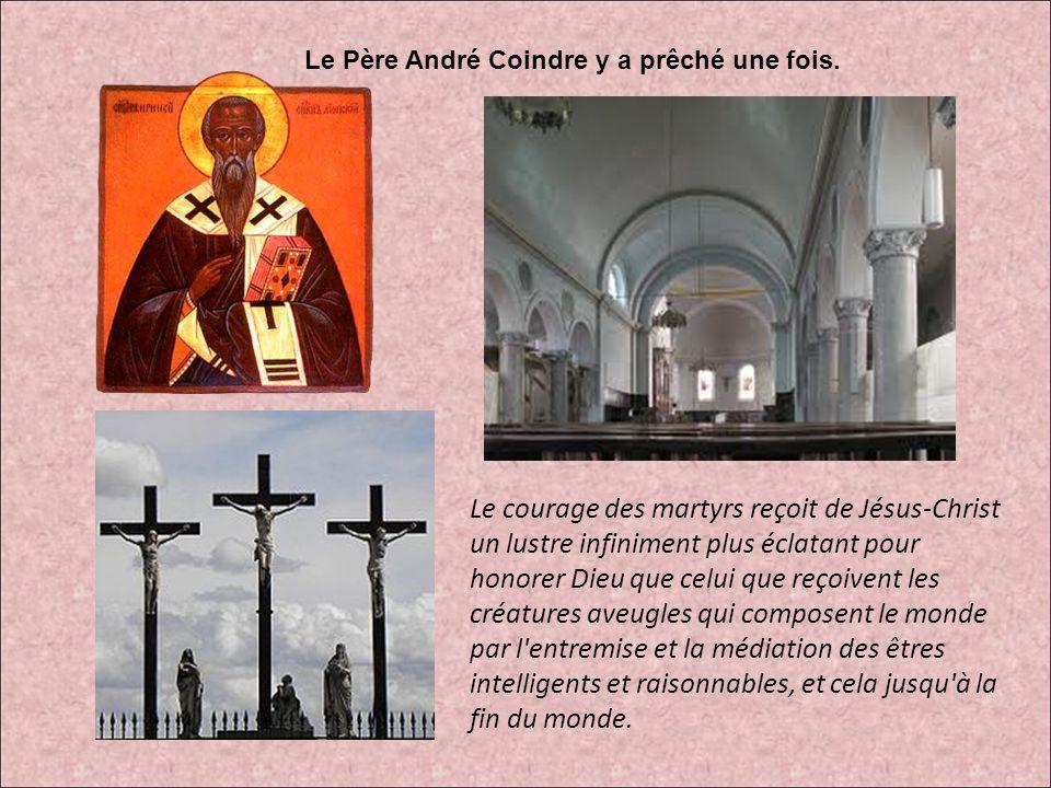 Le courage des martyrs reçoit de Jésus-Christ un lustre infiniment plus éclatant pour honorer Dieu que celui que reçoivent les créatures aveugles qui