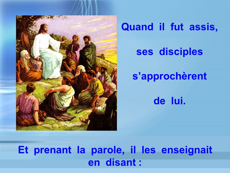 « HEUREUX les doux, car ils possèderont la terre »