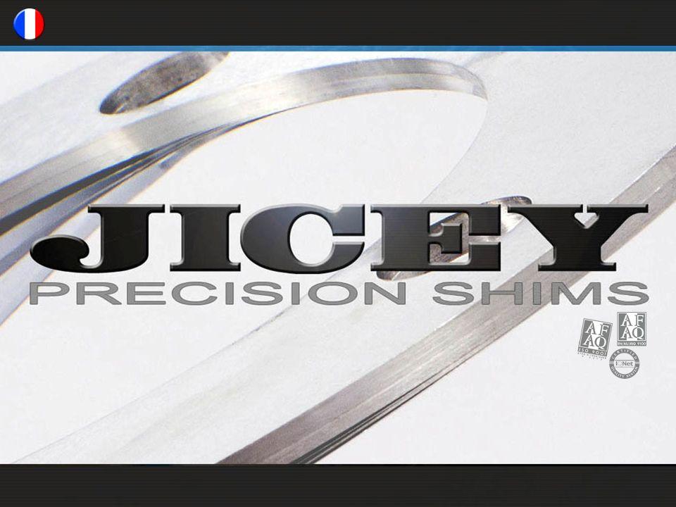 LENTREPRISE Notre métier Jicey est le spécialiste et le leader européen du calage de précision depuis plus de 60 ans Jicey, c est la gamme la plus complète de cales de réglage pour une solution parfaitement adaptée aux besoins de nos clients Jicey fabrique plus de 3 millions de cales de réglage par an Plus de 5.000 clients nous font confiance dans le monde entier et nous reconnaissent comme la référence dans ce domaine