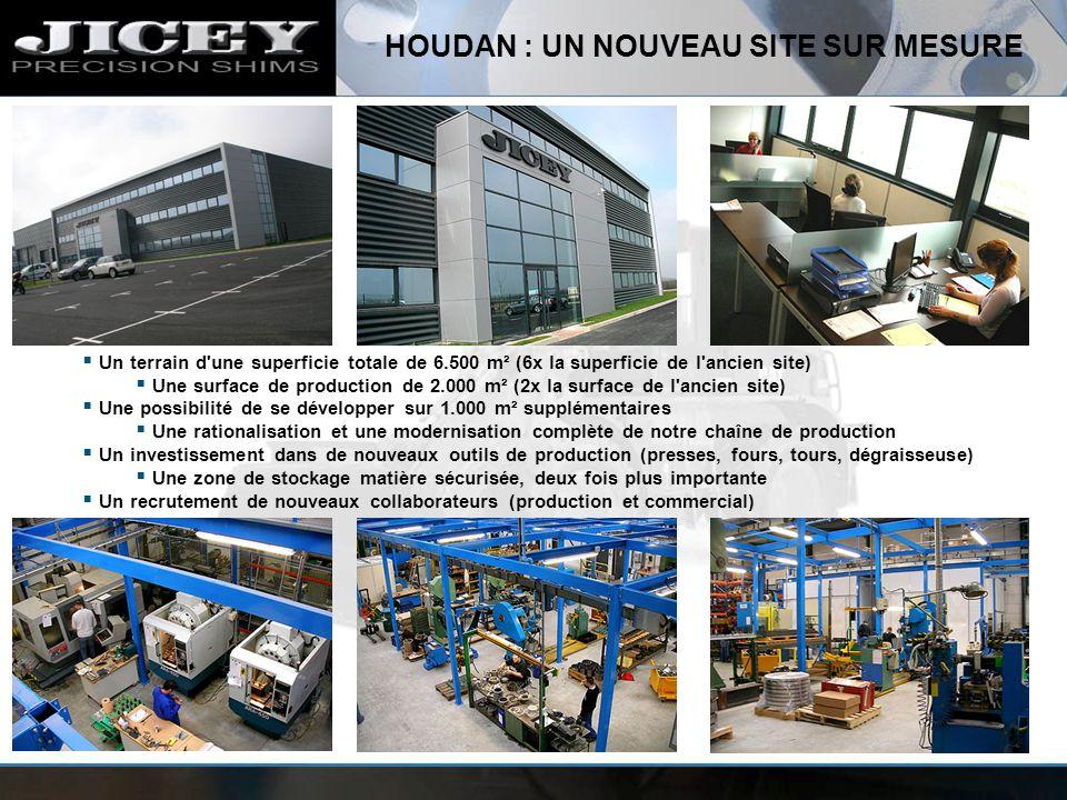 HOUDAN : UN NOUVEAU SITE SUR MESURE Un terrain d'une superficie totale de 6.500 m² (6x la superficie de l'ancien site) Une surface de production de 2.
