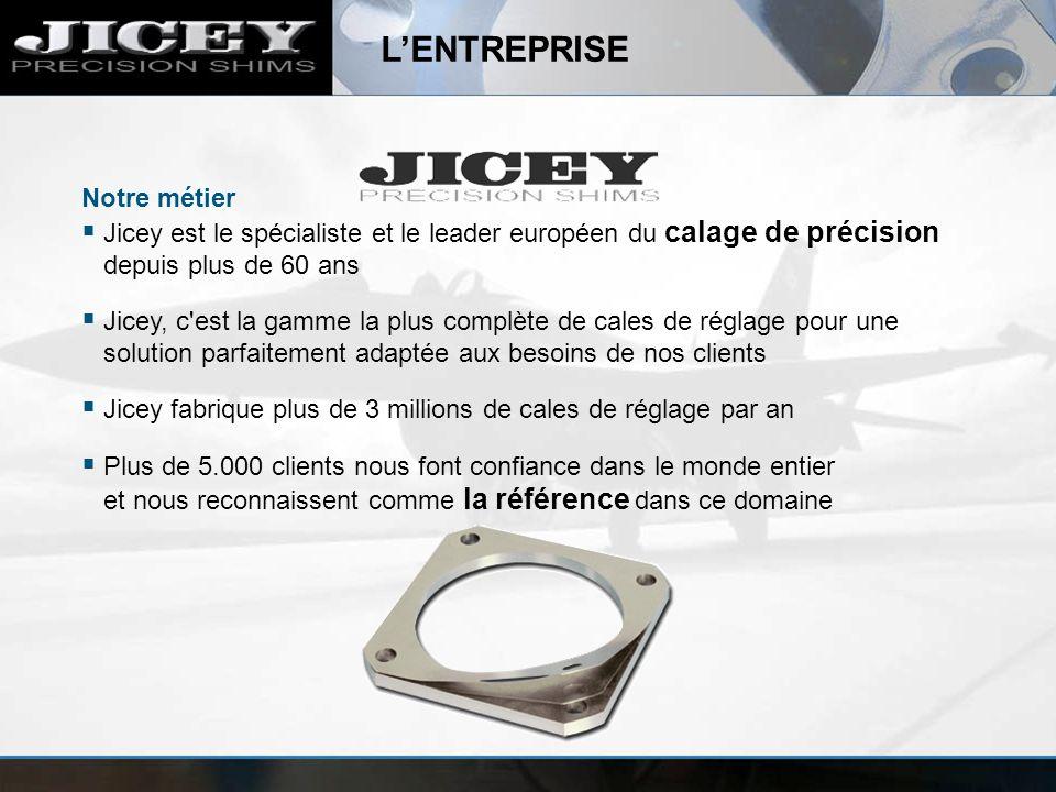 LENTREPRISE Notre métier Jicey est le spécialiste et le leader européen du calage de précision depuis plus de 60 ans Jicey, c'est la gamme la plus com