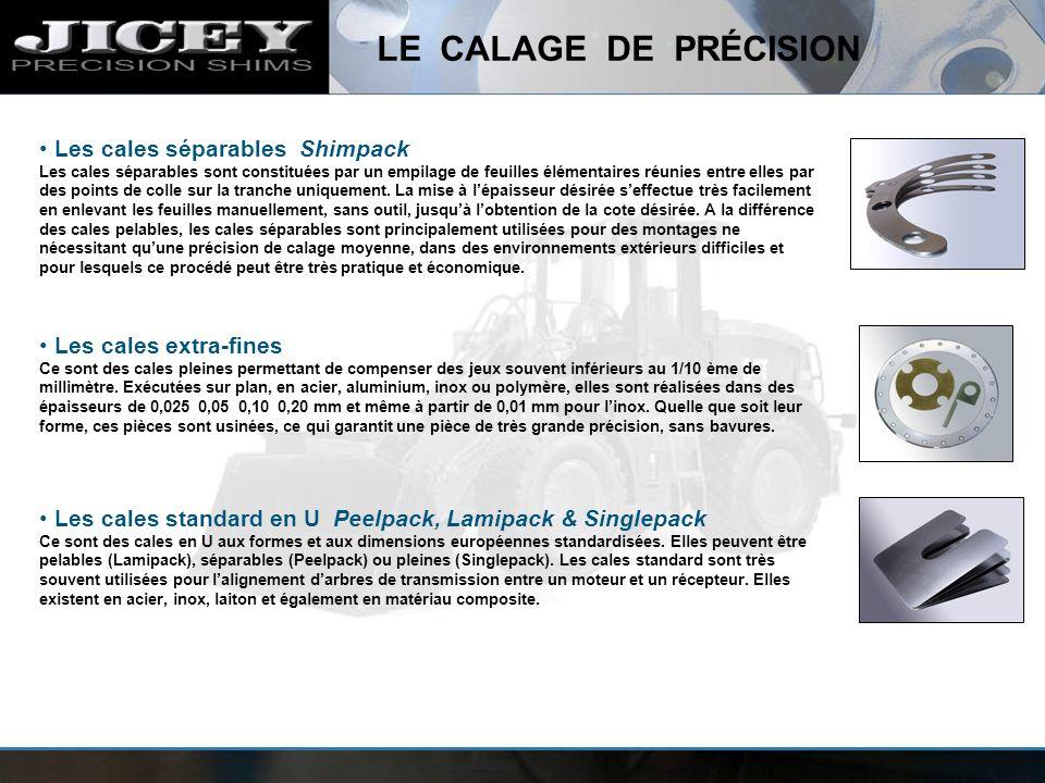 Les cales standard en U Peelpack, Lamipack & Singlepack Ce sont des cales en U aux formes et aux dimensions européennes standardisées. Elles peuvent ê