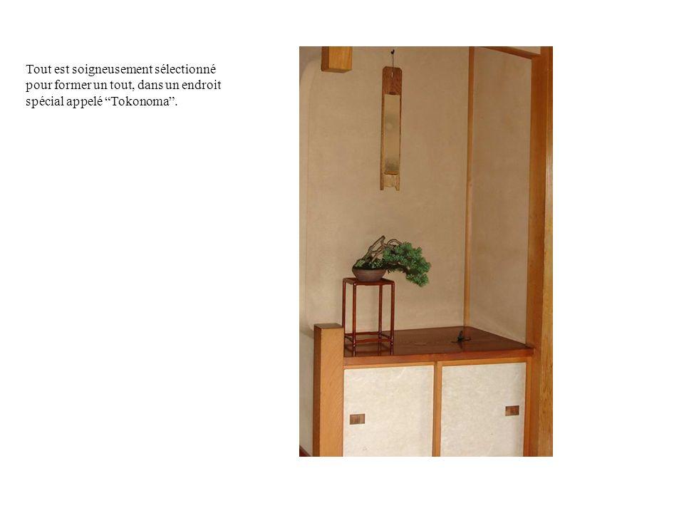 Tout est soigneusement sélectionné pour former un tout, dans un endroit spécial appelé Tokonoma.