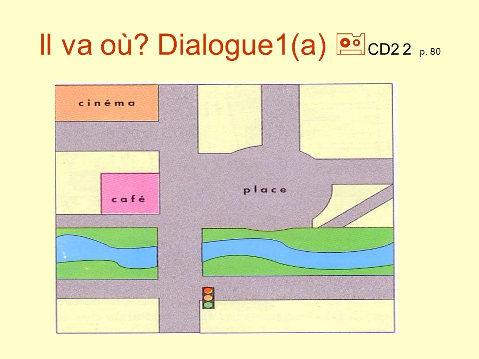 Il va où.Dialogue 1 (b) CD2 2 p. 80 Moi, je nhabite pas loin dici.