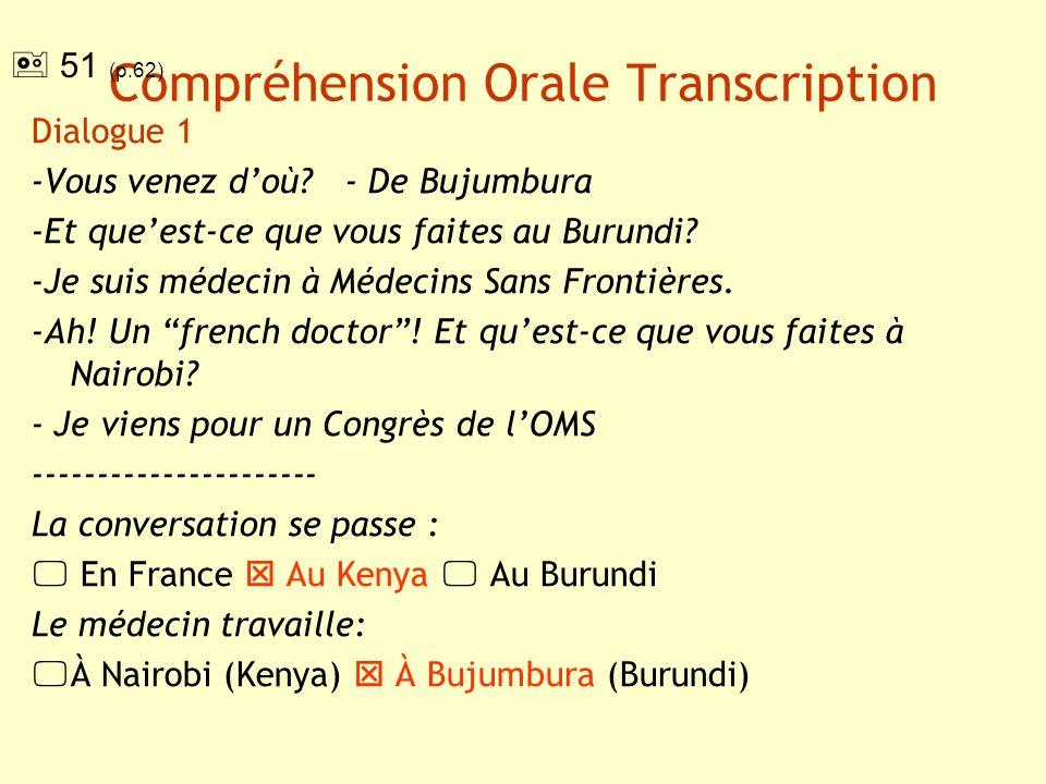 Compréhension Orale Transcription Dialogue 2 -Vous habitez en Grèce.
