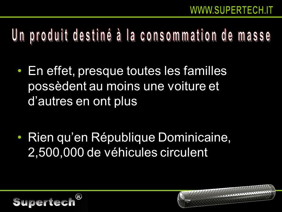 En effet, presque toutes les familles possèdent au moins une voiture et dautres en ont plus Rien quen République Dominicaine, 2,500,000 de véhicules c