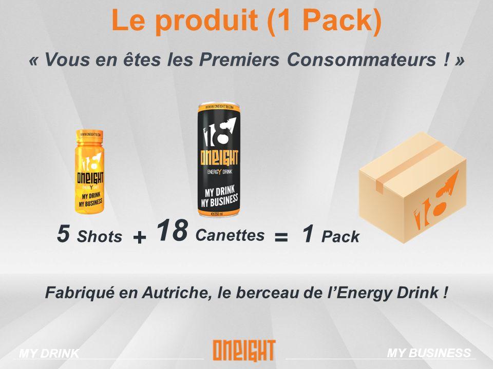 Le produit (1 Pack) 18 Canettes 5 Shots + Fabriqué en Autriche, le berceau de lEnergy Drink .