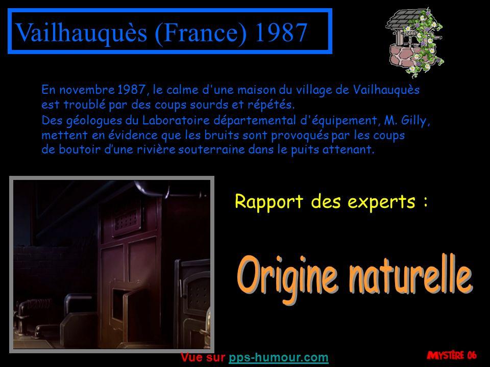 Montpellier (France) 1996 Une habitante de Montpellier, vivant seule avec ses quatre enfants demande à loffice des HLM de lui trouver un nouvel appartement, celui quelle occupe étant le siège de phénomènes paranormaux effrayants de type poltergeist.