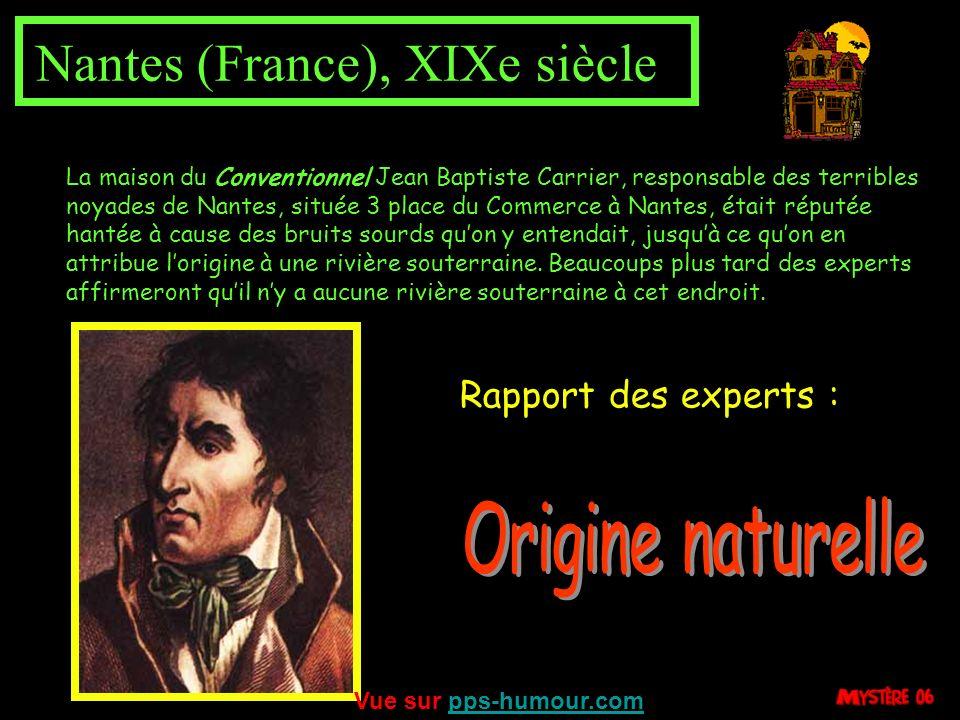 Vailhauquès (France) 1987 Rapport des experts : En novembre 1987, le calme d'une maison du village de Vailhauquès est troublé par des coups sourds et
