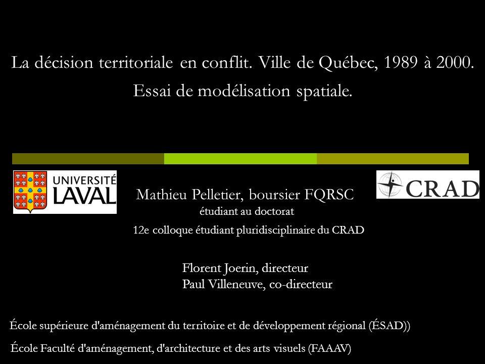 La décision territoriale en conflit. Ville de Québec, 1989 à 2000.