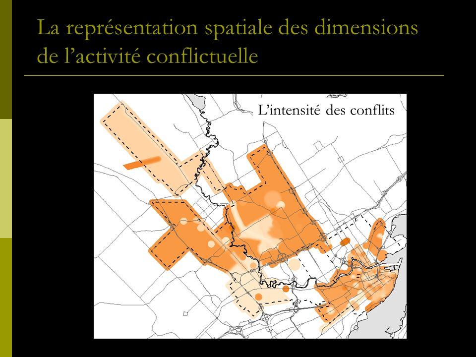La représentation spatiale des dimensions de lactivité conflictuelle Lintensité des conflits