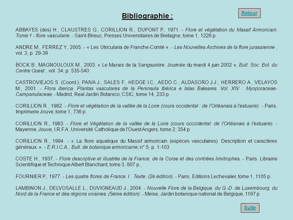 ABBAYES (des) H., CLAUSTRES G., CORILLION R., DUPONT P., 1971. - Flore et végétation du Massif Armoricain. Tome 1 - flore vasculaire. - Saint-Brieuc,